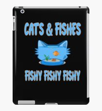 Cats and Fishes fishy fishy fishy Godfish in Aquarium with Cathead Form  iPad Case/Skin