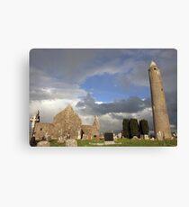 Kilmacduagh round tower Canvas Print