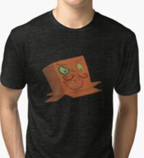 Funny face cardboard box masks Tri-blend T-Shirt