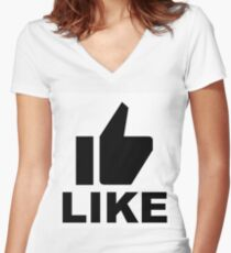 Shirt & Hoodies Women's Fitted V-Neck T-Shirt