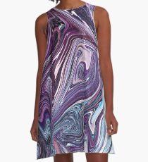 Marmor eins A-Linien Kleid