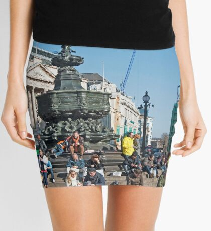 The Statue of Eros: Piccadily Circus, London, UK. Mini Skirt