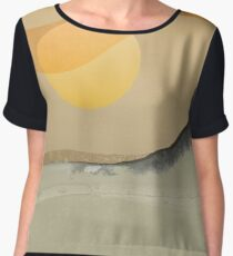 Abstract Landscape 03 Chiffon Top