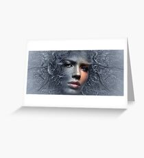 Fantasy face branches Greeting Card