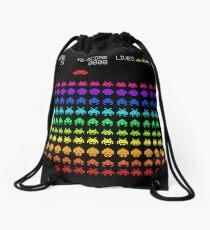 Space Invaders Drawstring Bag
