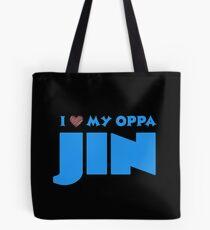 I HEART MY OPPA JIN - BLACK  Tote Bag