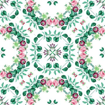 botanical flowers fabric retro aop garden plant seamless colorful repeat pattern by Abrahamjrnd