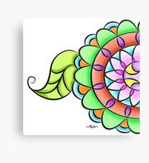 Mandala floral multicolor  Metal Print