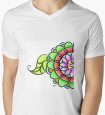 Mandala floral multicolor  V-Neck T-Shirt