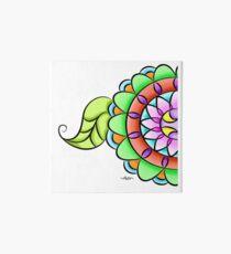 Mandala floral multicolor  Art Board