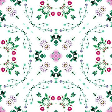 elegance branch painting seamless colorful repeat pattern by Abrahamjrnd