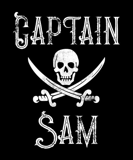 Personalized Captain Sam Shirt Vintage Pirates Shirt Personal Name Pirate TShirt by FairOaksDesigns