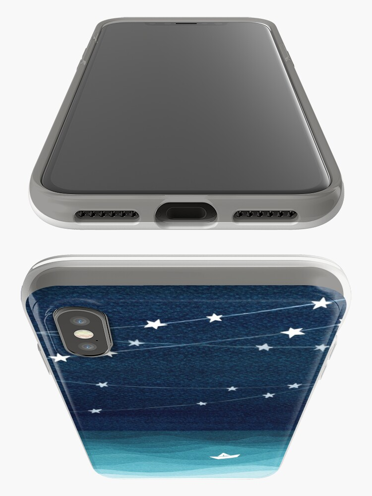 Alternate view of Garland of stars, teal ocean iPhone Cases & Covers