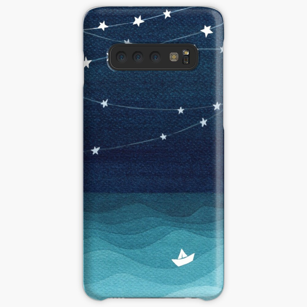 Garland of stars, teal ocean Cases & Skins for Samsung Galaxy