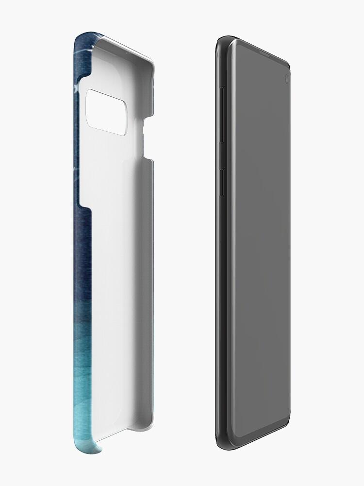 Alternate view of Garland of stars, teal ocean Case & Skin for Samsung Galaxy