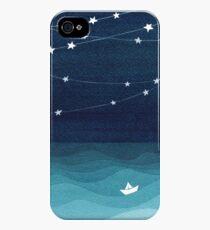 Garland of stars, teal ocean iPhone 4s/4 Case