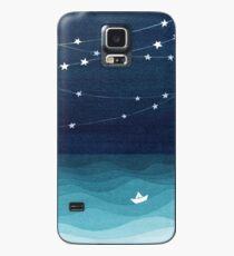 Garland von Sternen, aquamariner Ozean Hülle & Klebefolie für Samsung Galaxy