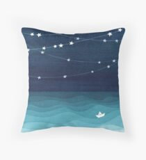 Garland of stars, teal ocean Floor Pillow