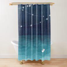 Garland von Sternen, aquamariner Ozean Duschvorhang