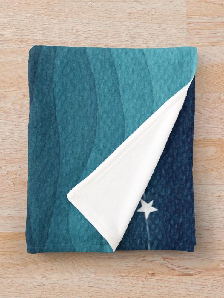 Alternate view of Garland of stars, teal ocean Throw Blanket