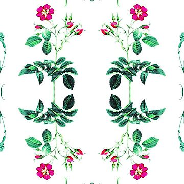 plant blossom textile orchid vintage seamless colorful repeat pattern by Abrahamjrnd
