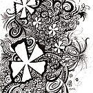 Delirium, Ink Drawing by Danielle Scott