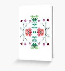 artwork color orchid flowers garden tropical branch fabric aop seamless colorful repeat pattern Greeting Card