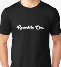 Ramble On Simple BW Slim Fit T-Shirt