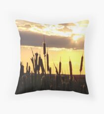 Eastern Oregon Sunset Throw Pillow