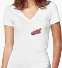 Mixer Truck Women's Fitted V-Neck T-Shirt
