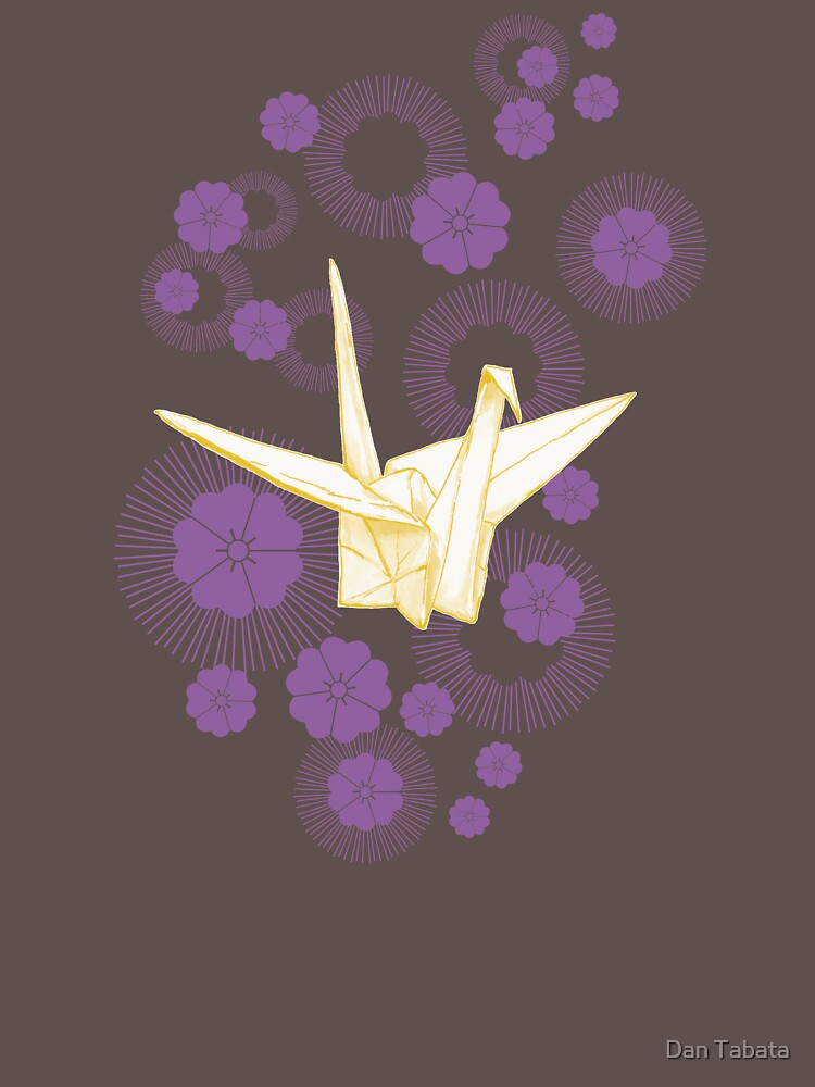 Paper Crane and Cherry Blossoms by dmtab