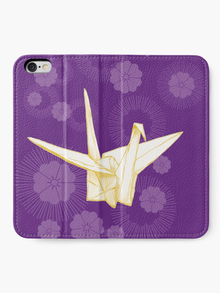 Alternate view of Paper Crane and Cherry Blossoms iPhone Wallet