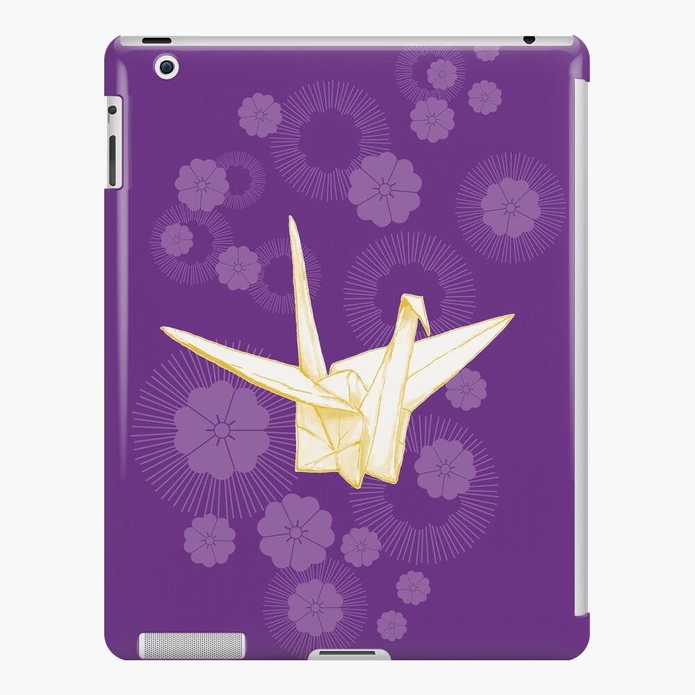 Paper Crane and Cherry Blossoms iPad Case & Skin