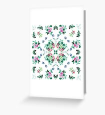 petal aop design painting garden ornament orchids vintage elegance seamless colorful repeat pattern Greeting Card