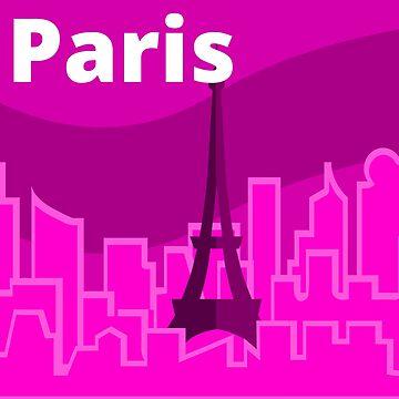 Paris Skyline Sticker by pda1986