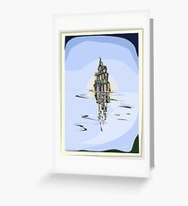 Tower at low tide  Greeting Card