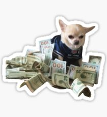 Money Dog Sticker