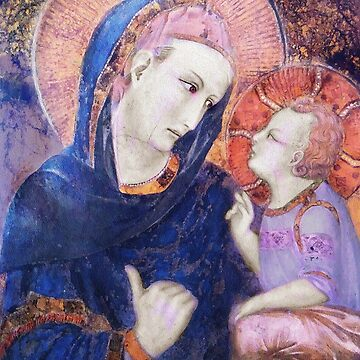 Christ Child Looking at His Mother  by dianegaddis