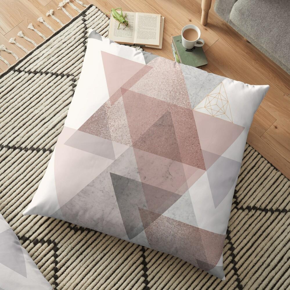 Glam Geometric Floor Pillow
