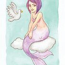Clound Mermaid - MerMonday June 11th 2018 by dreampigment