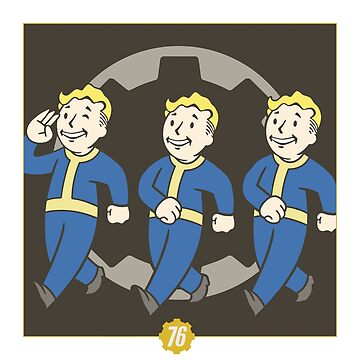 Fallout 76 - Co-Op Vault Boy (With 76) by Mathue24