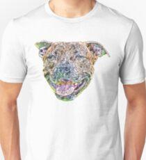 Staffordshire Bull Terrier Face Unisex T-Shirt