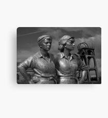 sheffield women of steel sculpture  Canvas Print