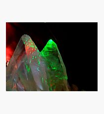 CRYSTALS & LASERS Photographic Print