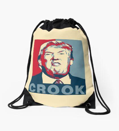 Trump Crook Poster Drawstring Bag