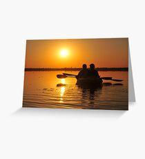 Kayakers on Lake Drummond Greeting Card