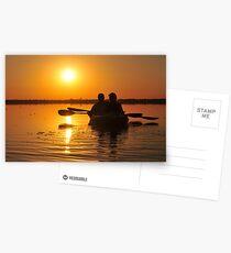 Kayakers on Lake Drummond Postcards