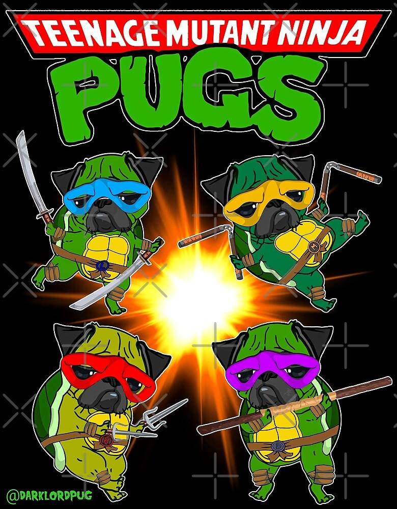 Teenage Mutant Ninja Pugs by darklordpug