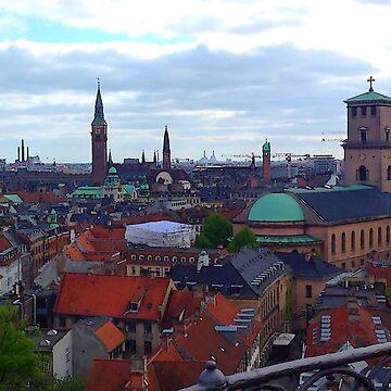"""Heavenly Copenhagen"", Photo / Digital Painting by KJACDesigns"