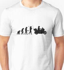 Motorcycle Cruiser Rider Evolution Unisex T-Shirt